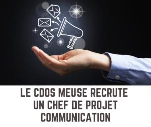 Le CDOS Meuse recrute un chef de projet Communication